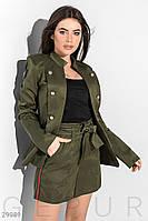 Стильный костюм с шортами Gepur Earth colors 29989