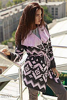 Двухцветный вязаный кардиган Gepur Autumn outerwear 28009