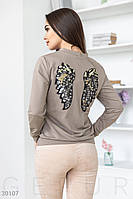 Свитшот с ярким декором Gepur Comfort 30107