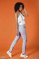 Трендовые укороченные брюки Gepur Sweet simple 26551