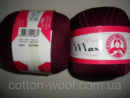 Maxi (Макси) 100% мерсеризованный хлопок 5537 бордо