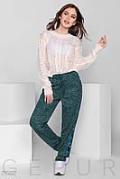 Трикотажные брюки с пайеткой Gepur The new edit 29682