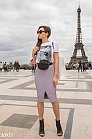 Кожаная юбка-карандаш Gepur Spring edition 30937