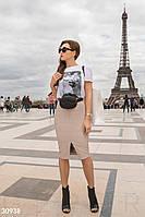 Кожаная юбка-карандаш Gepur Spring edition 30938