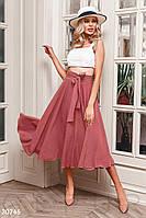 Легкая юбка-полусолнце Gepur Spring mood 30746