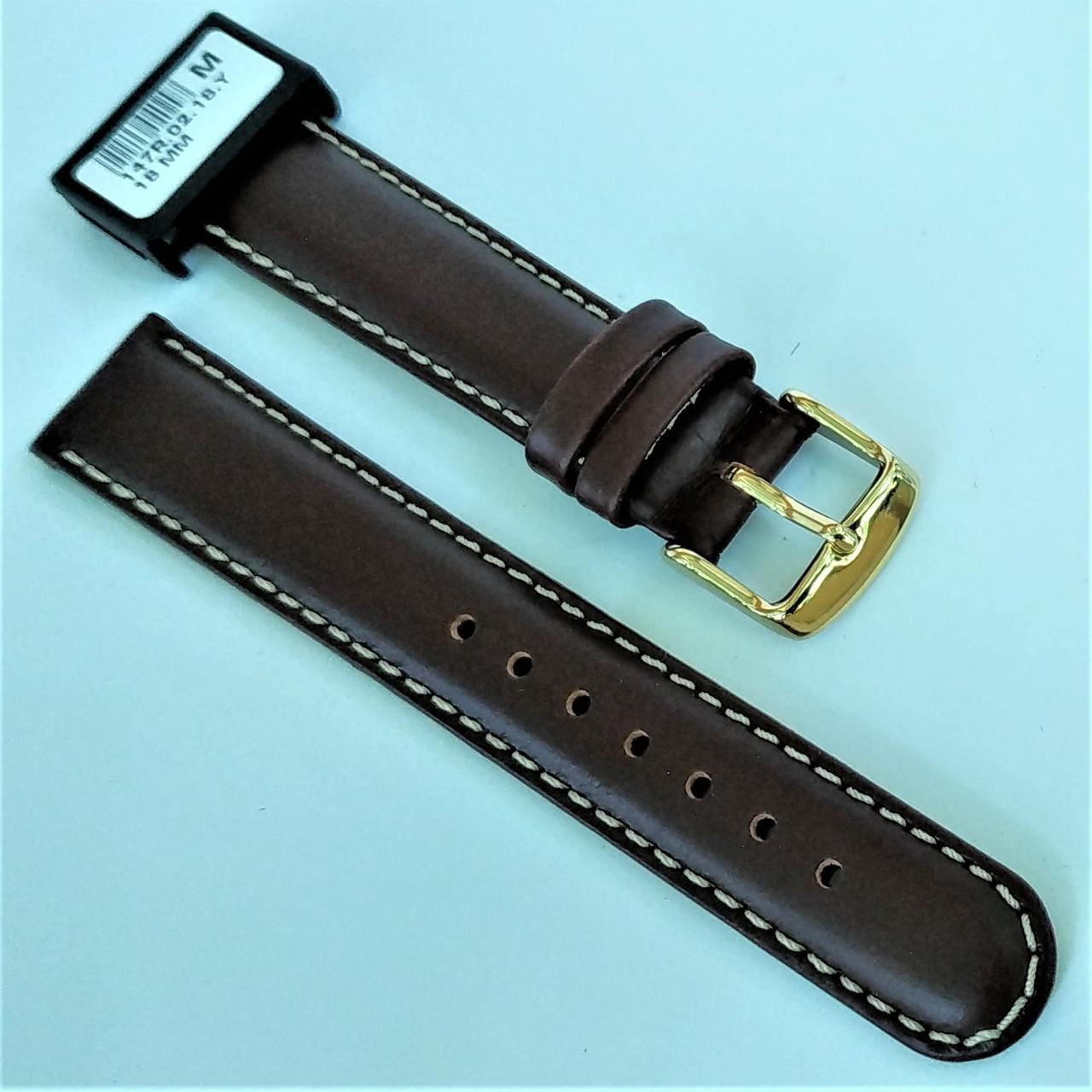 18 мм Кожаный Ремешок для часов CONDOR 147.18.02 Коричневый Ремешок на часы из Натуральной кожи