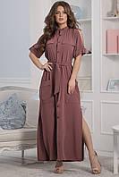 Каролина Платье длинное марсала, фото 1