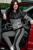 Прогулочный костюм с гипюром Gepur Ride it 7758