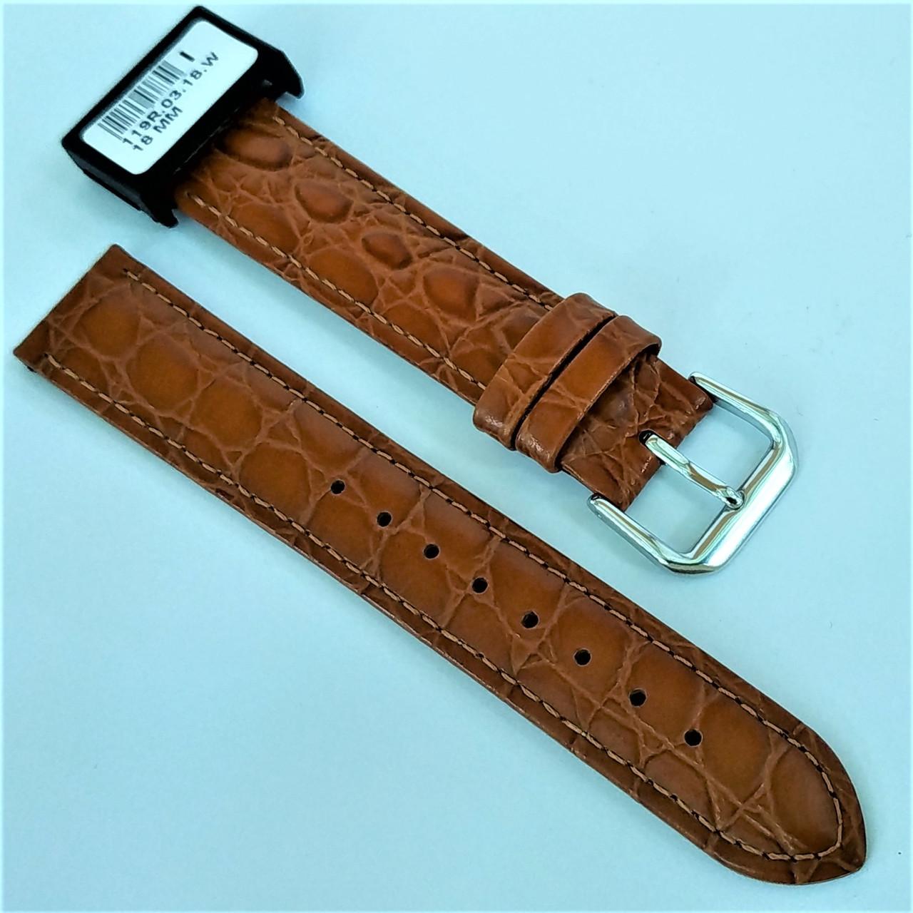 18 мм Кожаный Ремешок для часов CONDOR 119.18.03 Коричневый Ремешок на часы из Натуральной кожи
