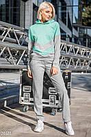 Двухцветный спортивный костюм Gepur Seven days 28481