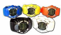 Професійний пульсомір - наручний годинник HRM-2518 з підсвічуванням і лічильником калорій (колір жовтий)