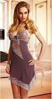 Сорочка женская эротическая прозрачная на тонких бретелях, пеньюар Eldar IMENA, ночная рубашка
