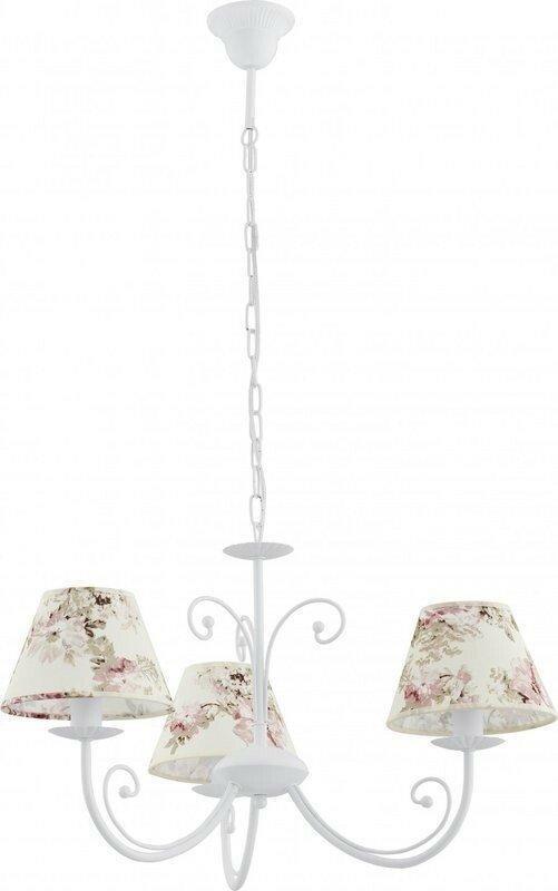 Люстра подвесная TK Lighting 373 ROSA WHITE