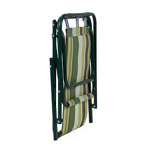 """Стул """"Дачный"""" d18 мм (текстилен зеленая полоса), фото 2"""