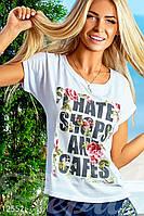 """Футболка """"I hate shops"""" Gepur Веранда 12552"""