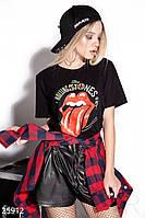 """Футболка """"Rolling stones"""" Gepur Rock it 25912"""