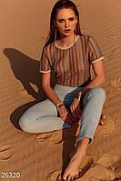 Цветная вязаная футболка Gepur Adventure 26320