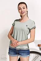 Комбинированная летняя футболка Gepur Take a break 26629
