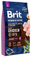 Сухой корм Brit Premium Dog Junior S (Брит Премиум Юниор Смол) для щенков и молодых собак мелких пород (Вес: 8 кг)