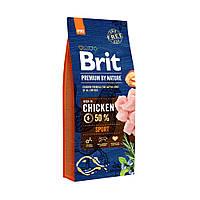 Сухой корм Brit Premium Dog Sport (Брит Премиум Спорт) для взрослых собак всех пород с высокими физическими нагрузками (Вес: 15 кг)
