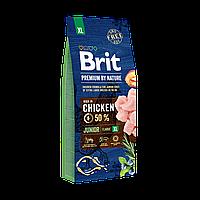 Сухой корм Brit Premium Junior XL (Брит Премиум Юниор XL) для щенков и молодых собак гигантских пород (Вес: 15 кг)
