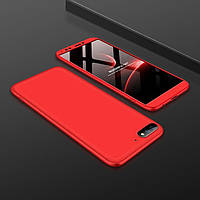 "Чехол GKK 360 для Honor 7C Pro / LND-L29 (5.99"") бампер накладка оригинальный без выреза Red"