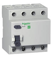 Устройство защитного отключения (УЗО) EZ9 4Р, 0,03А, 40А, тип АС