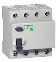 Устройство защитного отключения (УЗО) EZ9 4Р, 0,03А, 63А, тип АС