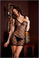 Сорочка женская эротическая прозрачная черная на тонких бретелях, пеньюар Eldar ISLA, ночная рубашка