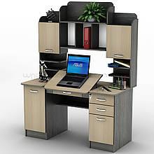 Комп'ютерний прямий стіл з надбудовою Тиса / Tisa СУ-13 (Універсал) з ДСП