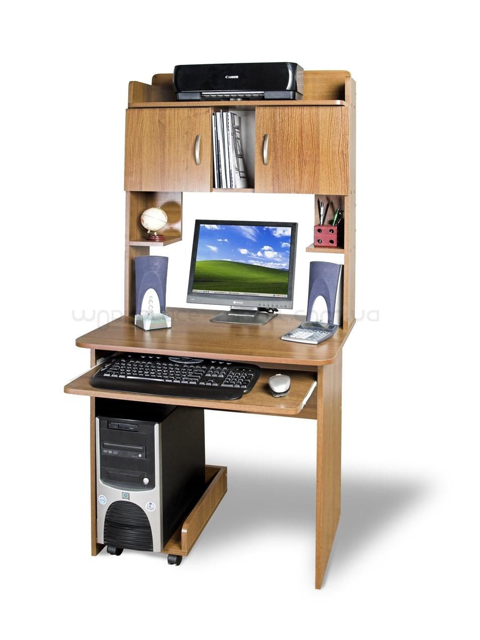 Компьютерный прямой стол Тиса СКМ - 5 с надстройкой