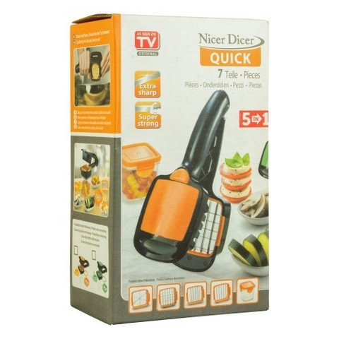 НаборNicer Dicer Quick, для быстрого нарезания5 в 1 с контейнером, овощерезка, яйцерезка Найсер Дайсер