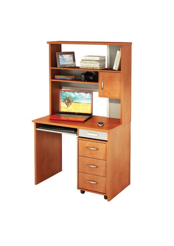 Компьютерный прямой стол Флеш-Ника Микс 21 с надстройкой