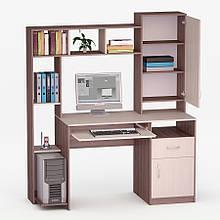 Комп'ютерний прямий стіл Флеш-Ніка Лід - 14 (стандарт) з надбудовою