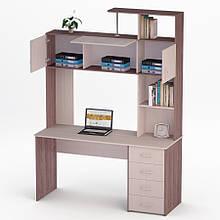Комп'ютерний прямий стіл Флеш-Ніка Лід - 25 (стандарт) з надбудовою