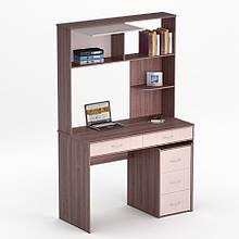 Комп'ютерний прямий стіл Флеш-Ніка Лід - 26 (стандарт) з надбудовою