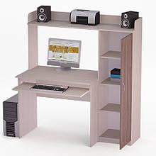 Комп'ютерний прямий стіл Флеш-Ніка Лід - 37 (стандарт) з надбудовою