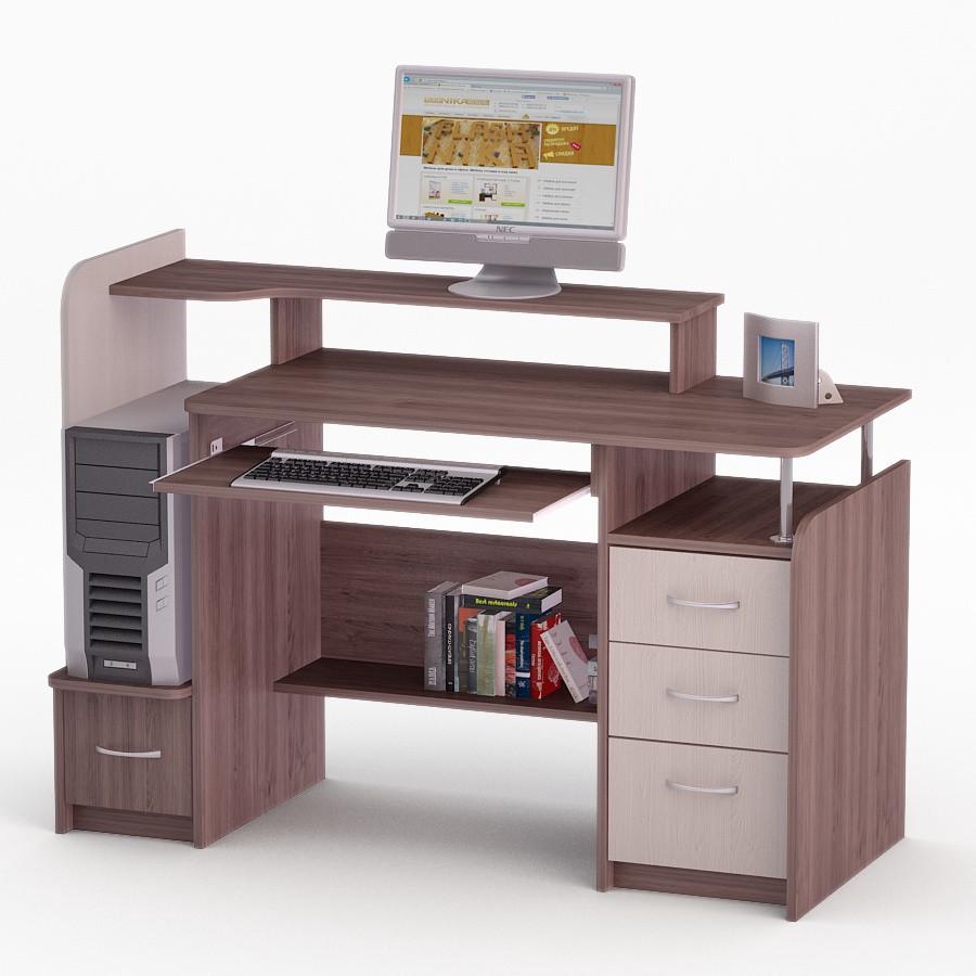 Компьютерный прямой стол Флеш-Ника ЛеД - 39 (стандарт)