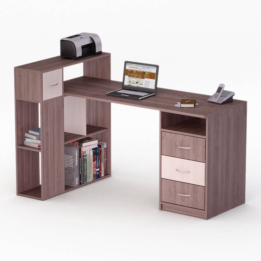 Компьютерный угловой стол Флеш-Ника ЛеД - 46 (стандарт)