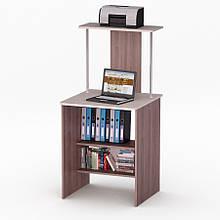 Комп'ютерний прямий стіл Флеш-Ніка Лід - 56 (стандарт) з надбудовою