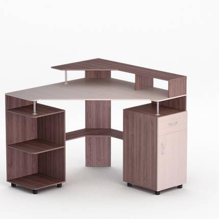 Компьютерный угловой стол Флеш-Ника ЛеД - 10 Дуб Лимберг Коимбра, фото 2