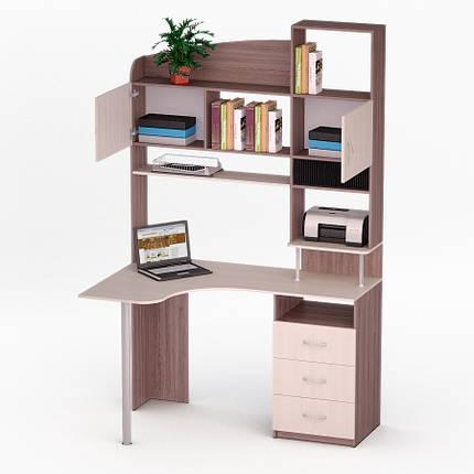 Компьютерный угловой стол Флеш-Ника ЛеД - 16 Дуб Лимберг Коимбра, фото 2