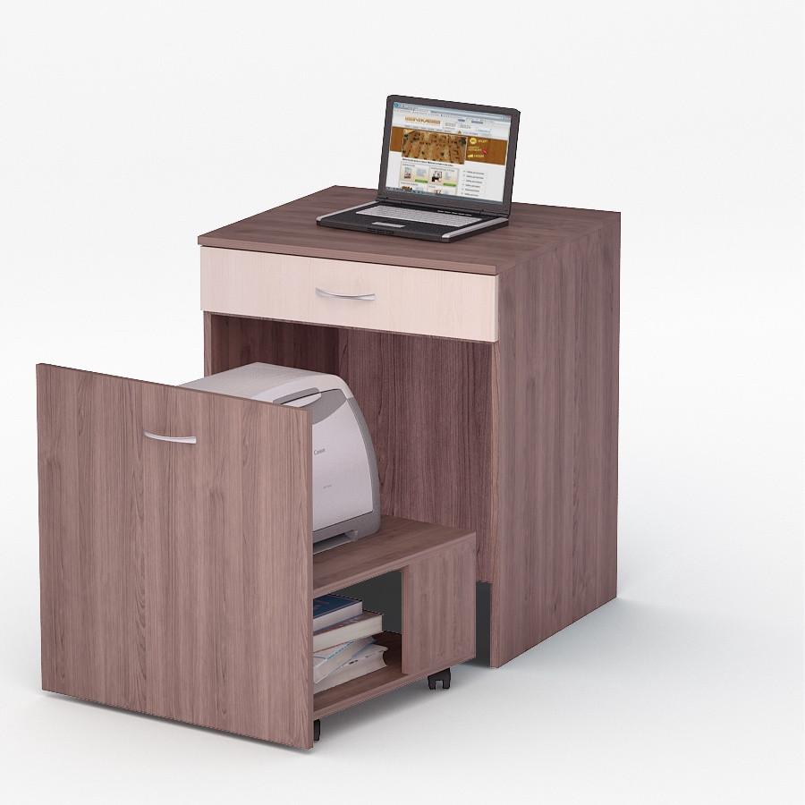 Компьютерный прямой стол Флеш-Ника ЛеД - 45 Дуб Лимберг Коимбра