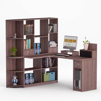 Компьютерный угловой стол Флеш-Ника Мокос 23 (стандарт) с надстройкой, фото 2