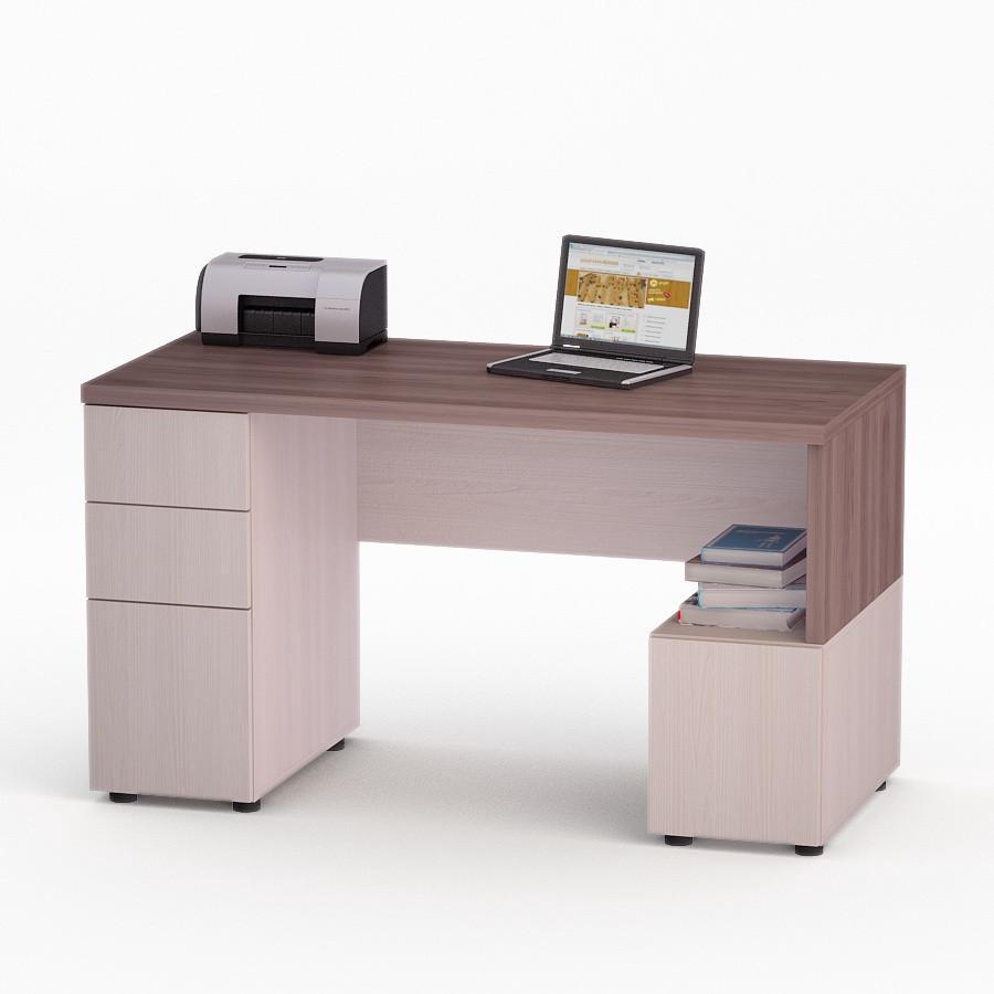 Компьютерный прямой стол Флеш-Ника Мокос 9 Дуб Лимберг Коимбра