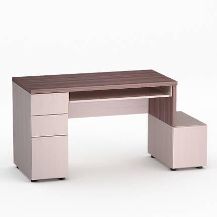 Компьютерный прямой стол Флеш-Ника Мокос 10 Дуб Лимберг Коимбра, фото 2