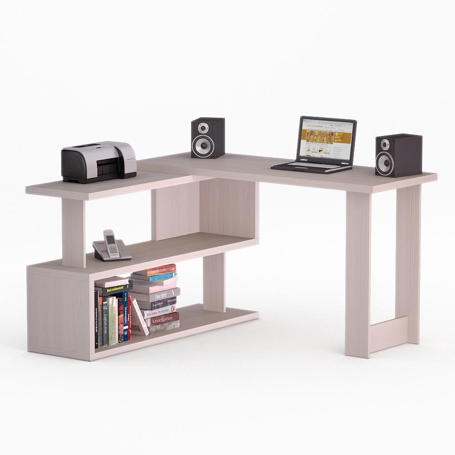 Компьютерный угловой стол Флеш-Ника Мокос 34 Дуб Лимберг Коимбра