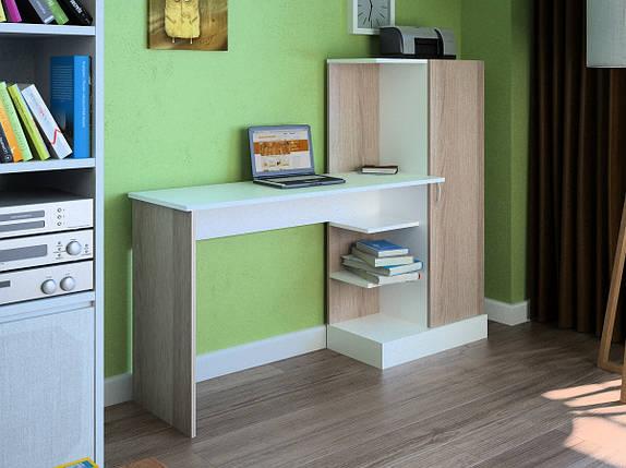 Компьютерный прямой стол Флеш-Ника LEGA - 11 (стандарт) с надстройкой, фото 2