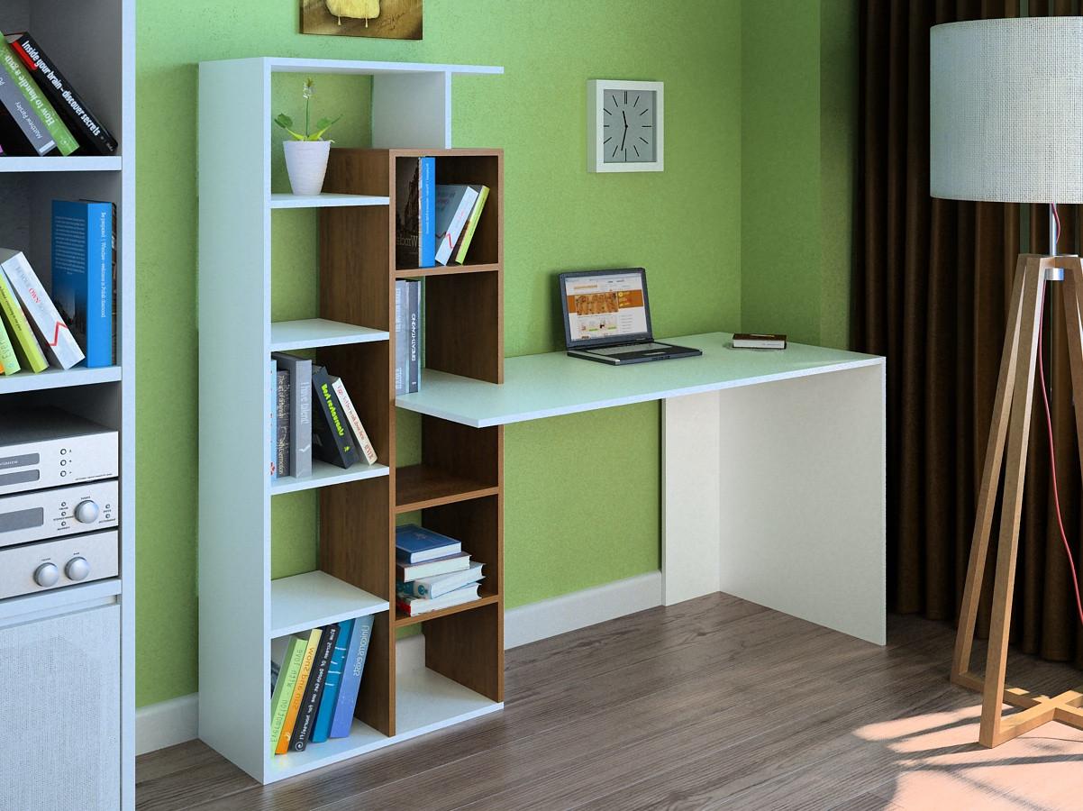 Компьютерный прямой стол Флеш-Ника LEGA - 14 (стандарт) с надстройкой