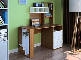Комп'ютерний прямий стіл Флеш-Ніка LEGA - 22 (стандарт) з надбудовою